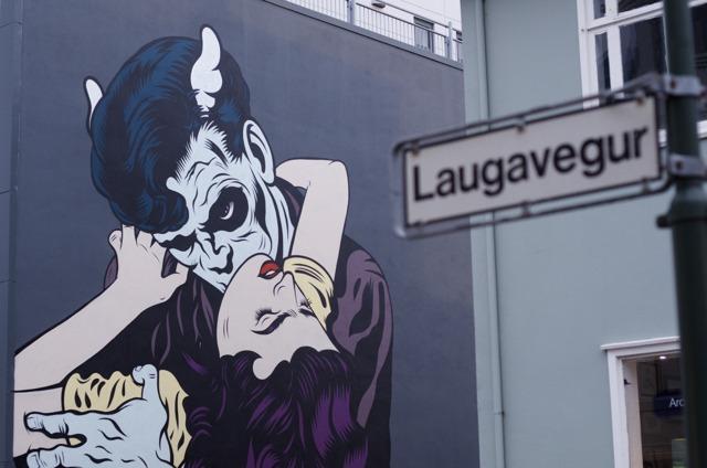 Iceland - Reykjavik Laugavegur 66- D*FACE and Agent Fresco inspired by Laxdæla Saga